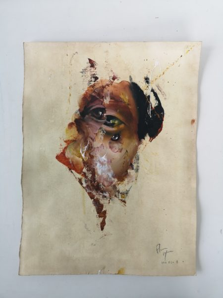 Oil on paper 8